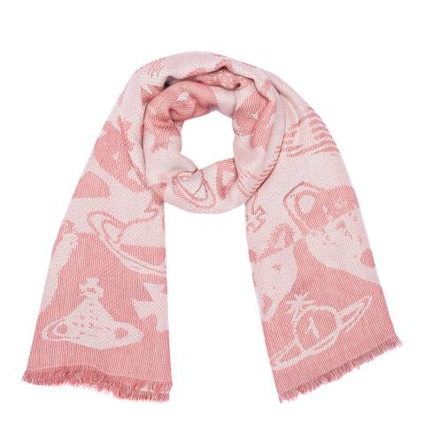 Vivienne Westwood Oxblood Cosmo Square Scarf