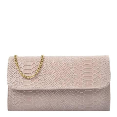 Isabella Rhea Pink Leather Crossbody/Clutch Bag