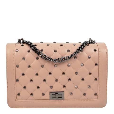 Isabella Rhea Pink Leather Shoulder/Crossbody Bag
