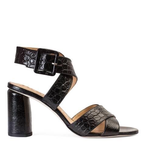 Paco Gil Black Leather Thelma Heeled Sandal