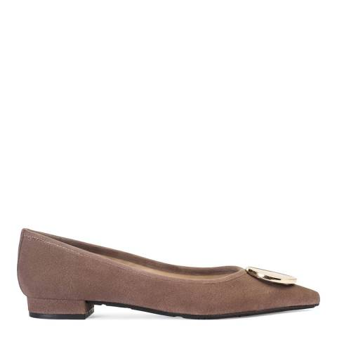 Paco Gil Taupe Suede Elisa Flats