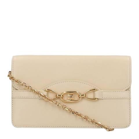 Celine Cream/Gold Chain Crossbody Bag