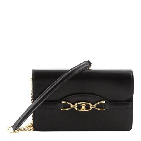 Celine Black/Gold Chain Crossbody Bag