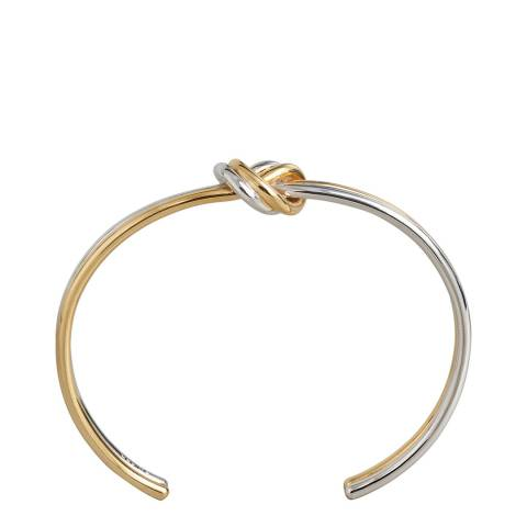 Celine Gold/Silver Double Knot Bangle