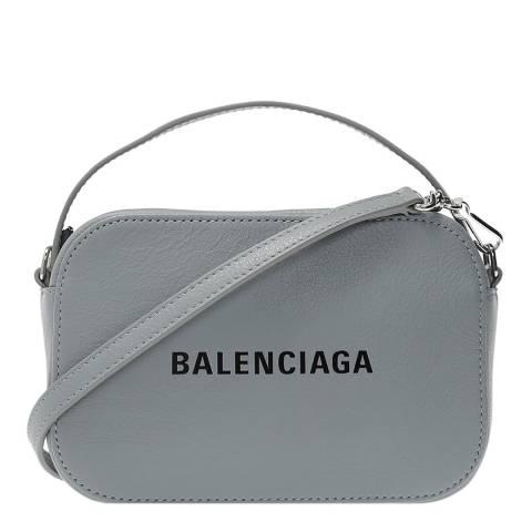 Balenciaga Grey Crossbody Camera Bag