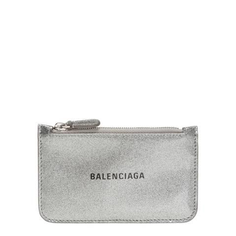 Balenciaga Silver Leather Coin Purse