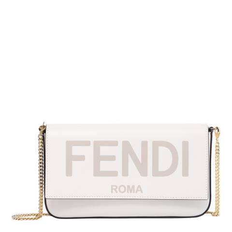 Fendi Brown FF Fendi Chain Bag