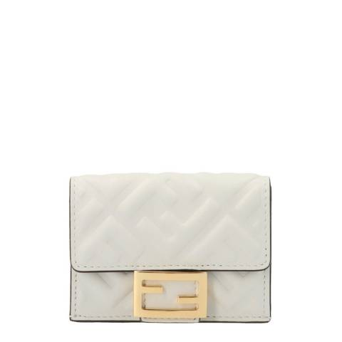Fendi Cream Micro Trifold Wallet