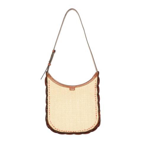 Chloe Beige/Brown Medium Darryl Shoulder Bag