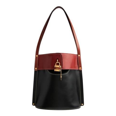 Chloe Black/Brown Aby Shoulder Bag