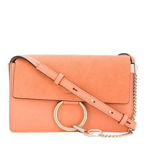 Chloe Peach Small Faye Shoulder Bag