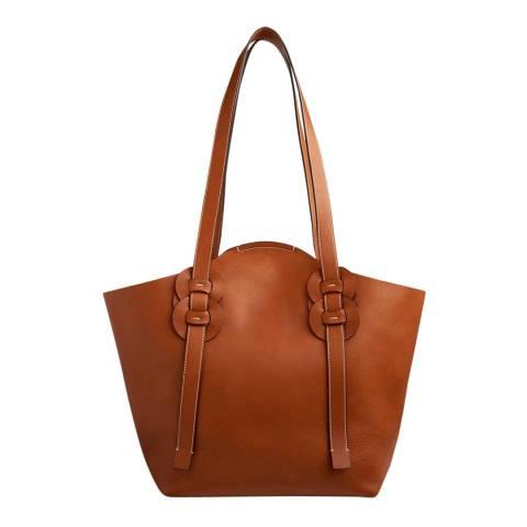 Chloe Brown Medium Darryl Shoulder Bag
