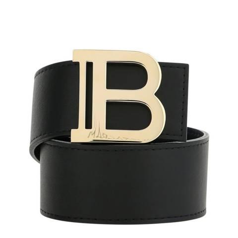 Balmain Black B-Logo Belt