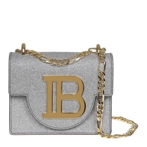 Balmain Silver B-Bag 18 Shoulder/Crossbody Bag