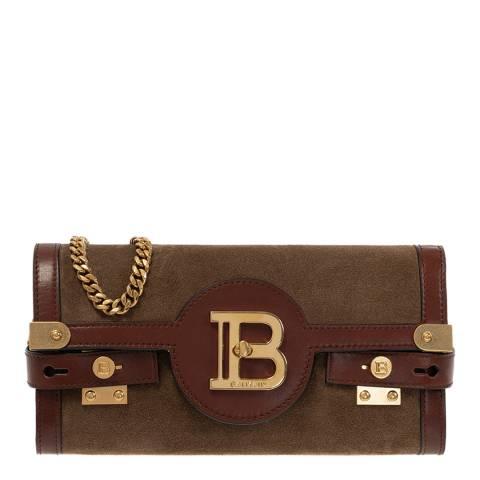 Balmain Brown B-Buzz 23 Shoulder/Clutch Bag