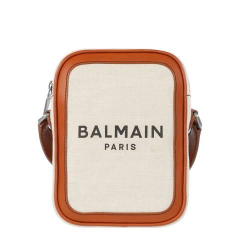 Balmain Beige/Brown B-Army Shoulder/Crossbody Bag
