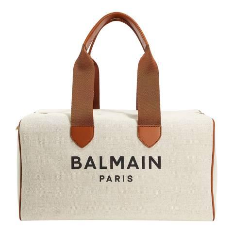 Balmain Beige/Brown Duffel Bag