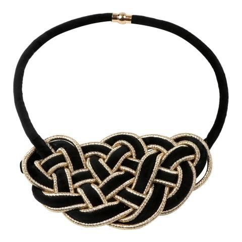 Amrita Singh Black Greta Velvet Necklace