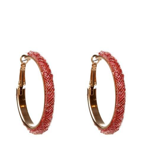 Amrita Singh Ruby Crystal Mesh Hoop Earrings