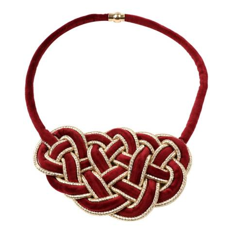 Amrita Singh Red Greta Velvet Necklace