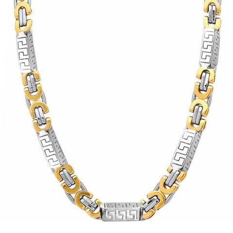 Stephen Oliver 18k Gold & Silver Plated Two Tone Bracelet