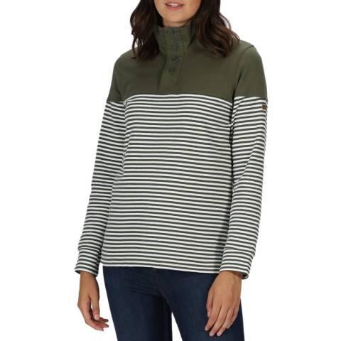 Regatta Green Breton Stripe Fleece