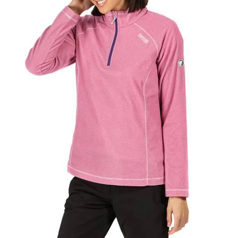 Regatta Pink Lightweight Half Zip Fleece