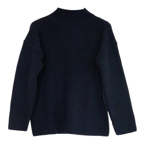 Chinti and Parker Navy Cotton Jumper