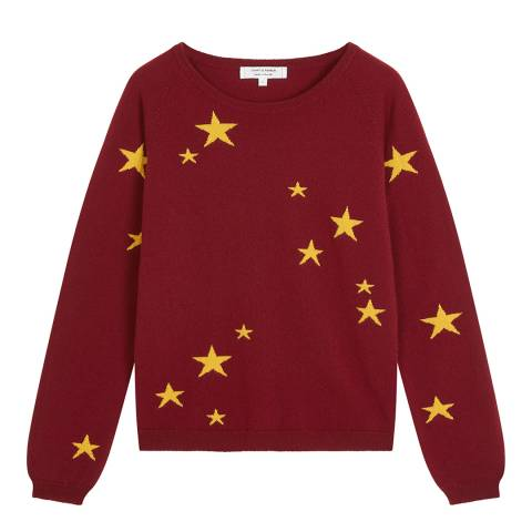 Chinti and Parker Red Classic Star Light Cashmere Jumper
