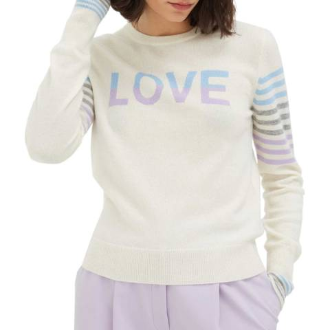 Chinti and Parker Multi Love Stripe Wool/Cashmere Blend Jumper
