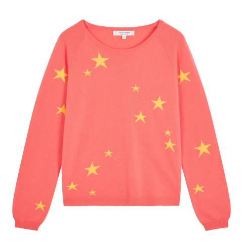 Chinti and Parker Coral Classic Star Light Cashmere Jumper