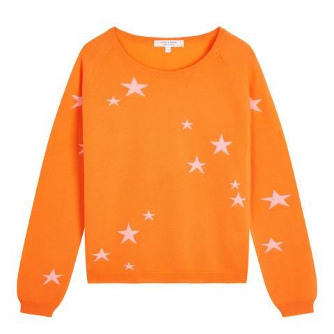 Chinti and Parker Orange Classic Star Light Cashmere Jumper