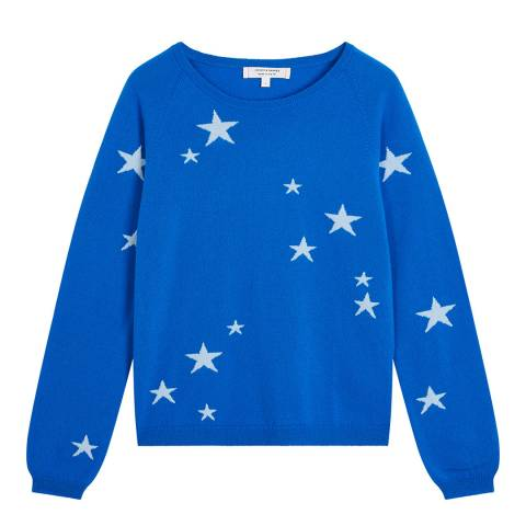 Chinti and Parker Royal Blue Classic Star Cashmere Jumper
