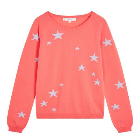 Chinti and Parker Coral Classic Star Cashmere Jumper
