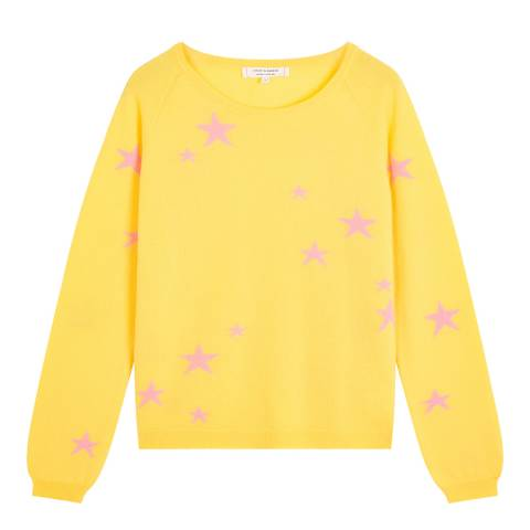 Chinti and Parker Yellow Classic Star Cashmere Jumper
