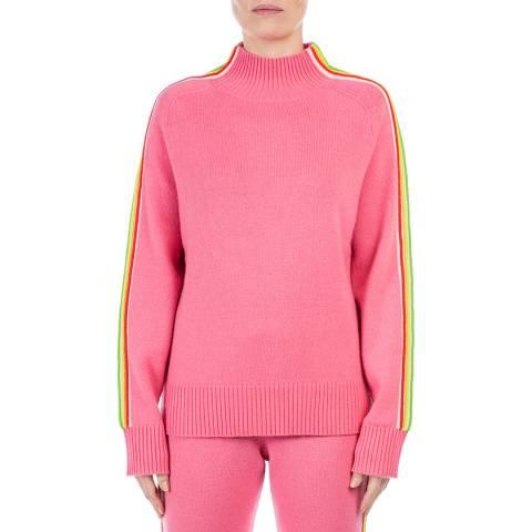 Chinti and Parker Pink Multi Stripe Wool/Cashmere Blend Jumper
