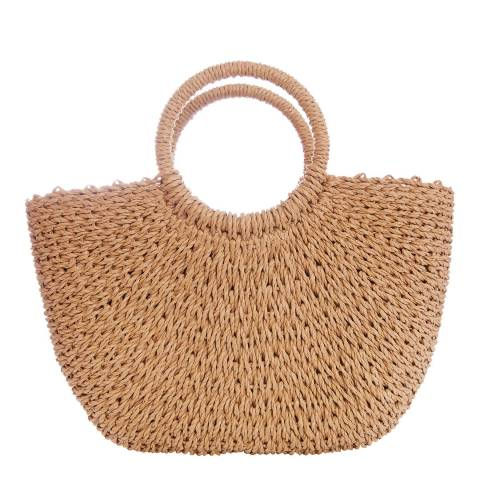 N°· Eleven Tan Woven Tote Bag