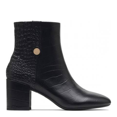 Radley Black Croc Hastings Ankle Boots
