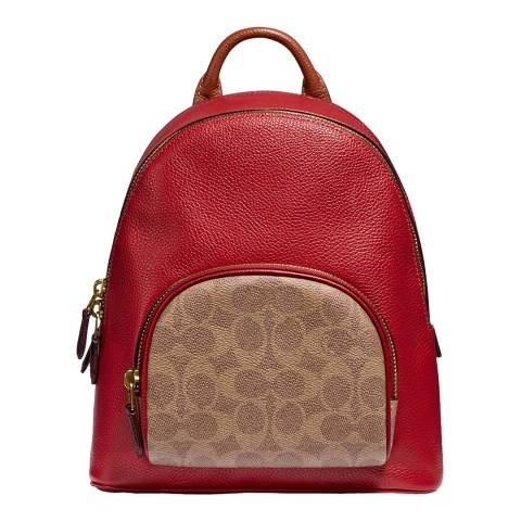 Coach Red Apple Tan Signature Carrie 23 Backpack