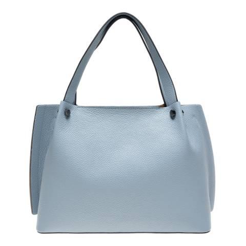 Luisa Vannini Blue Leather Shoulder Bag