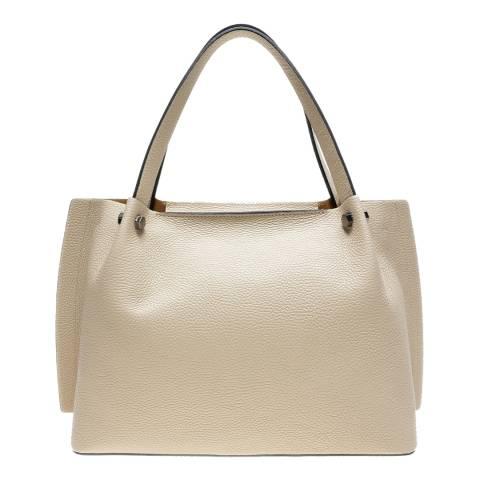 Luisa Vannini Beige Leather Shoulder Bag