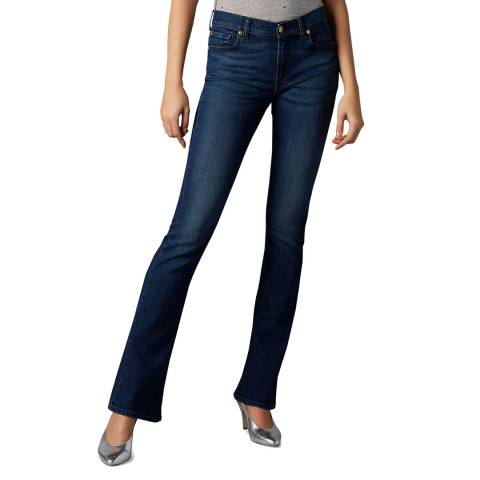 7 For All Mankind Blue Slim Bootcut Evolution Stretch Jeans