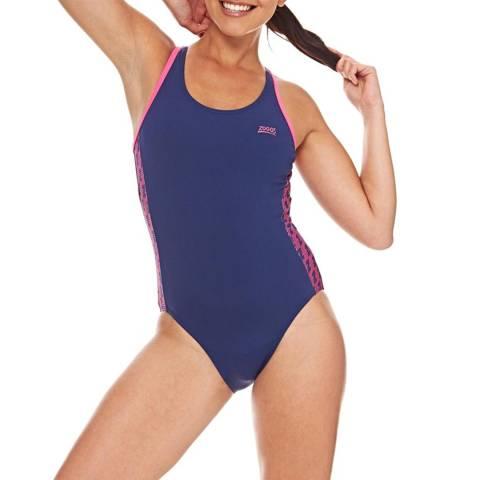 Zoggs Navy Solo Splashback Swimsuit