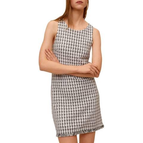 Mango Black Knit Cotton-Blend Dress