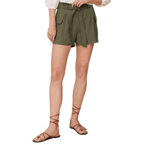 Mango Khaki Side Pockets Shorts