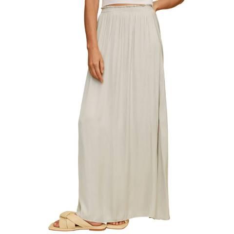 Mango Light/Pastel Grey Elastic Waist Skirt