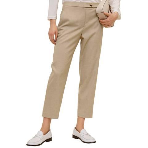 Mango Medium Brown Suit Cropped Trousers