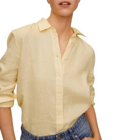 Mango Yellow Linen Shirt