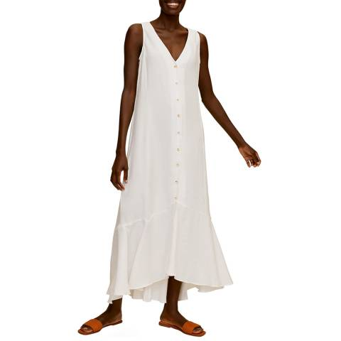 Mango Off White Buttoned Gown
