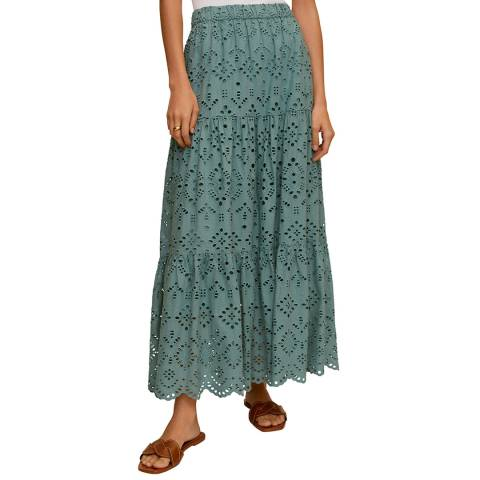 Mango Green Cotton Skirt
